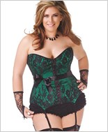 Plus Size Lace Over Satin Corset