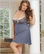 Plus Size Babydoll And G-String Set  CQ-1426X