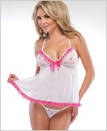 Mesh Babydoll And G-String