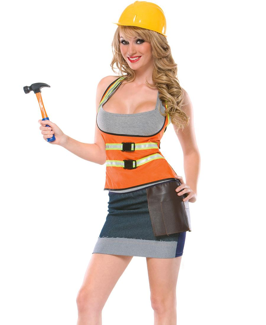 Cutie Construction Worker Adult Costume