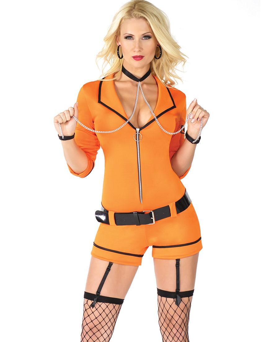 inmate women's halloween costume cq-m6187