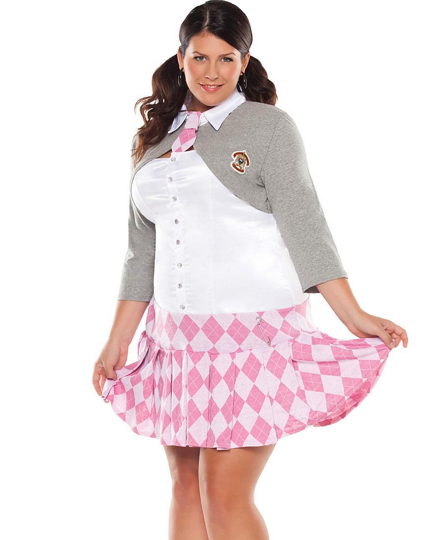 plus size prep school girl adult costume