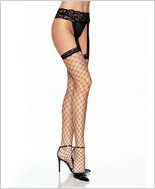 Leg Avenue® Lycra Fence Net Stockings With Garter Belt LA-1769