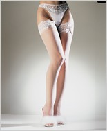 Leg Avenue® Sheer Lace Top Thigh Highs With Satin Bow LA-1912
