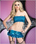 Leg Avenue Tube Top And Garter Skirt LA-28062