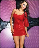 Leg Avenue Foil Slinky Asymmetrical Mini Dress LA-28067
