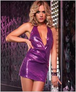 Sequin Halter Mini Dress LA-28082