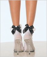 Leg Avenue® Nylon Anklets With Ruffle And Satin Bow LA-3029