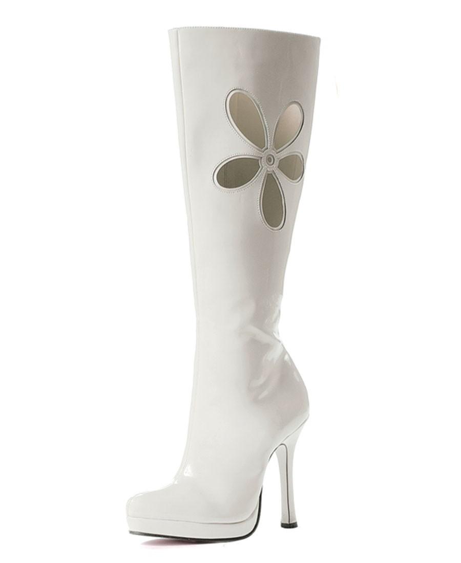 Resultado de imagem para botas blancas de tacon
