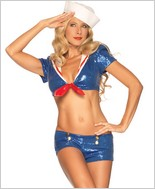 Sequin Sailor Sexy Adult Costume LA-53206