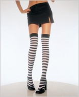 Leg Avenue® Opaque Stripe Thigh Highs LA-6005