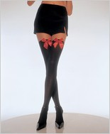 Leg Avenue® Opaque Thigh High With Satin Bow LA-6255Q