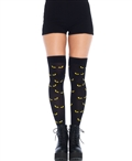 Spooky Eyes Thigh Highs LA-6342