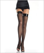 Leg Avenue® Lycra Fishnet Tigh Highs With Vinyl Top LA-8291