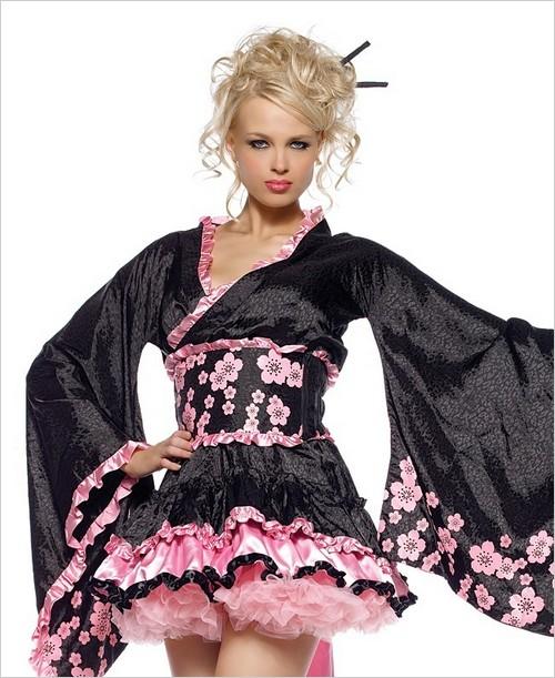 Cherry Blossom Geisha costume ...  sc 1 st  Wholesale Lingerie & Cherry Blossom Geisha Sexy Adult Costume LA-83423 - Lingerie4Wholesale