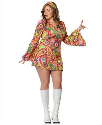 Leg Avenue® Two Piece Hippie Chick Costume LA-83502X