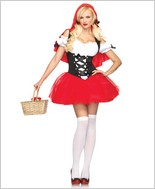 Racy Red Riding Hood Sexy Adult Costume LA-83615