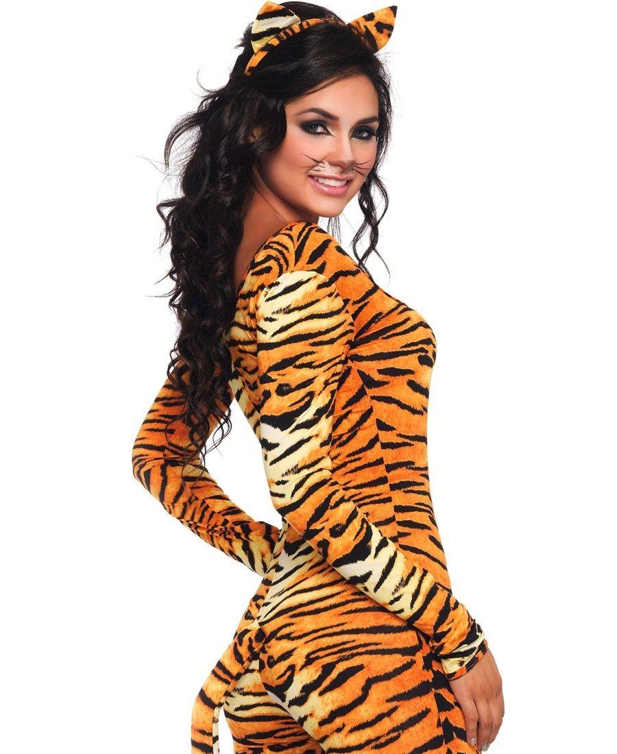 2 pc wild tigress adult costume - Tigress Halloween Costume