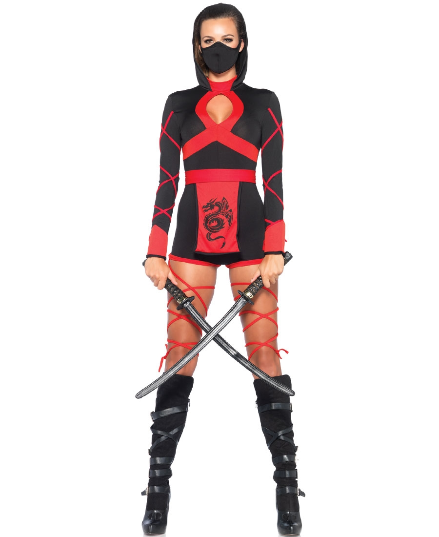 three pieces dragon ninja womens adult costume