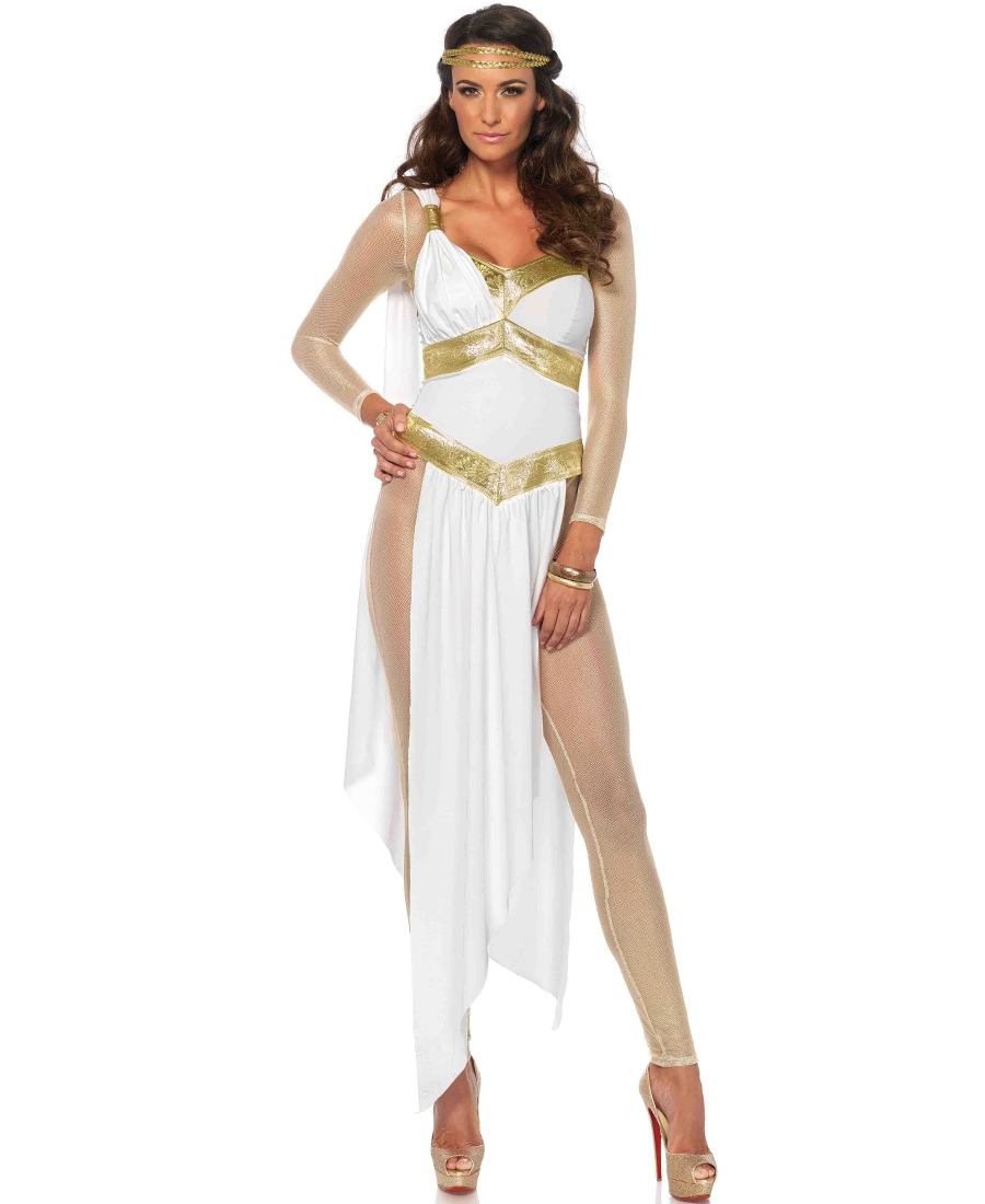 greek golden goddess halloween costume la-85578