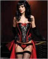 Leg Avenue Raven Corset With Support Boning LA-86329