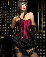 Leg Avenue Front Zipper Betty Corset LA-86335X-Pink