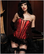 Leg Avenue Front Zipper Betty Corset LA-86335X-Red