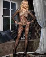 Leg Avenue® Long Sleeved Bodystocking With Open Crotch LA-8748