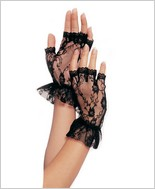 Leg Avenue® Wrist Lenght Fingerless Lace Gloves LA-G1205