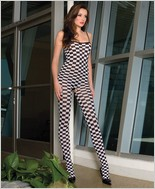 Music Legs® Checker Bodystocking ML-1076