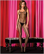 Music Legs® Crochet Bodystocking With Open Crotch ML-1174