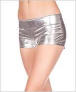 Silver Banded Metallic Shorts ML-141-Silver