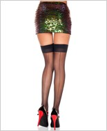 Plus Size Backseam Sheer Stockings ML-4102Q