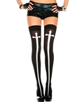 Gothic Cross Thigh High Stockings ML-4629