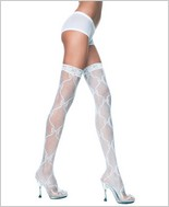 Music Legs® Bow Lace Stocking ML-4710