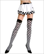 Music Legs® Checker Thigh Hi ML-4760