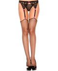 Plus Size Mini Diamond Net Spandex Stockings ML-4936Q
