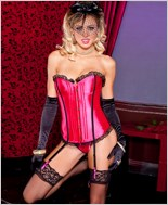 Satin Corset And G-String Set ML-52816