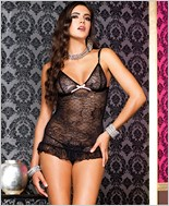 Lace Camisole And G-String Set ML-56063
