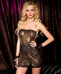 Strapless Stretch Sequined Mini Dress ML-56618