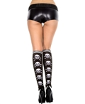 Cross Bone Print Knee Highs ML-5712