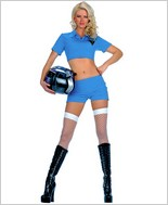 Music Legs® Sexy Race Car Outfit Adult Halloween Costume ML-70052