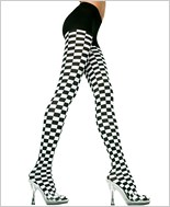 Music Legs® Opaque Checker Tight ML-7006