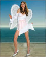 Music Legs® Ruffled Trim Angel Peasant Dress ML-70102