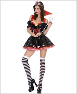 Music Legs Sexy Vinyl Queen Of Hearts Adult Costume ML-70239
