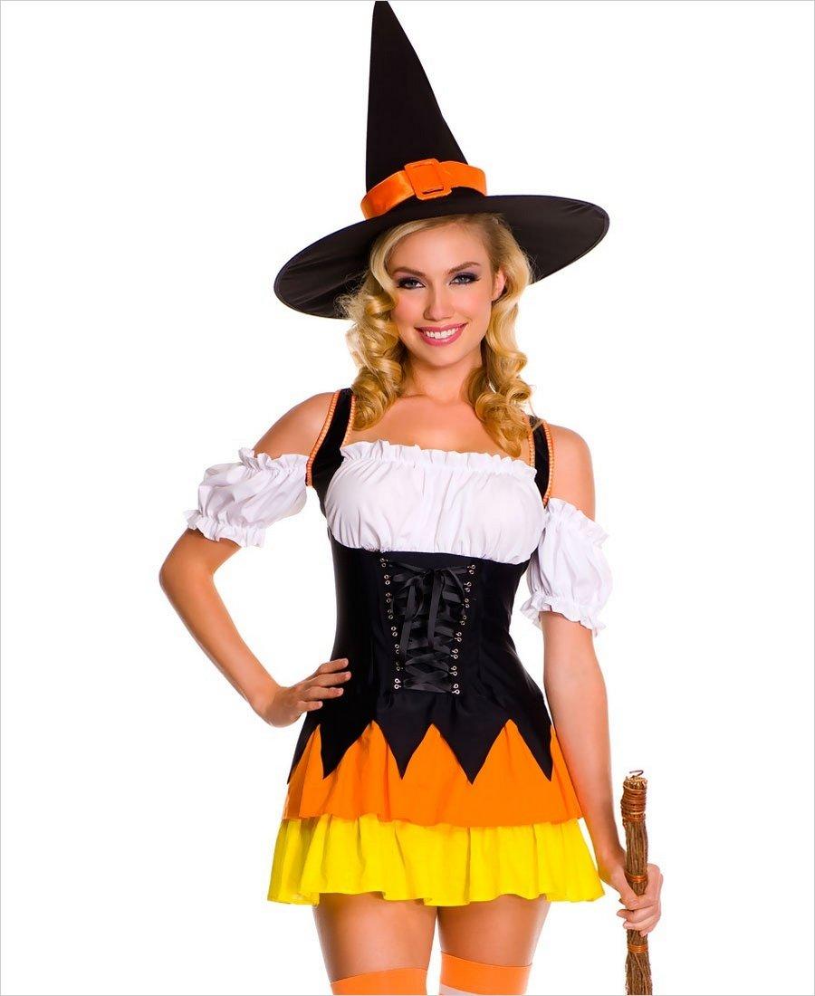 Chic Candy Corn Witch Costume ML-70422
