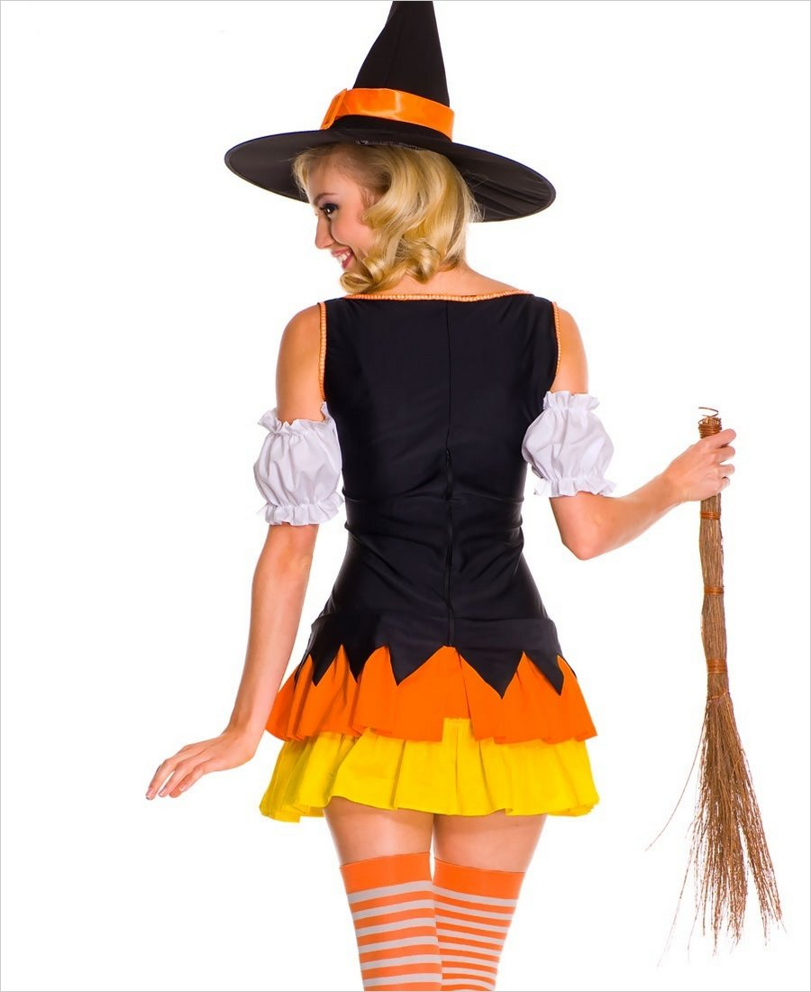 chic candy corn witch costume ml 70422