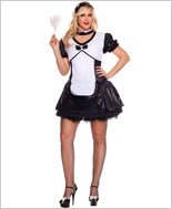 Adult Plus Size Cameo French Maid Costume ML-70455Q