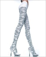 Music Legs® Zebra Print Tights ML-7046
