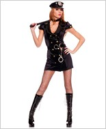 Adult Handcuff Honey Cop Costume ML-70506